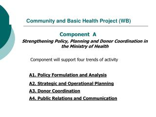 Community and Basic Health Project  ( WB )