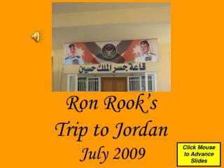 Ron Rook's  Trip to Jordan