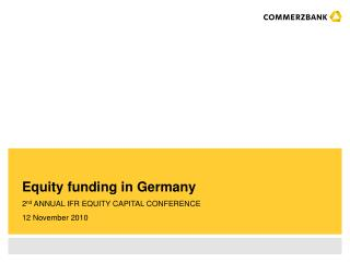 Equity funding in Germany
