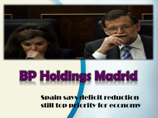 Spain says deficit reduction still top priority for economy-
