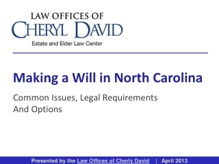 Making a Will in North Carolina