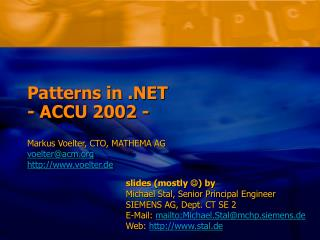 Patterns in .NET - ACCU 2002 -