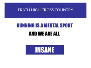 ERATH HIGH CROSS COUNTRY