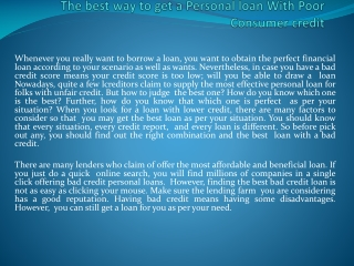best loans with bad credit