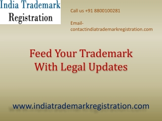 Feed Your Trademark With Legal Updates