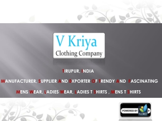 Mens Cloths Manufacturer -  Mens T Shirts Supplier in India