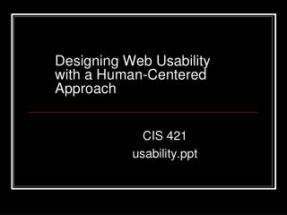 Designing Web Usability  with a Human-Centered Approach