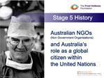 australian ngos non government organisationsand australia