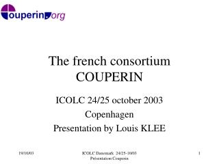 The french consortium COUPERIN
