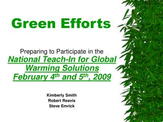 Green Efforts