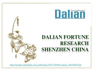 dalian fortune research shenzhen china, EC: China's economy