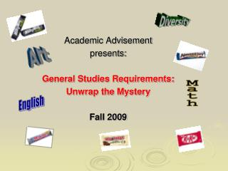 Academic Advisement presents:  General Studies Requirements: Unwrap the Mystery  Fall 2009