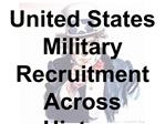 United States Military Recruitment Across History - New York ...