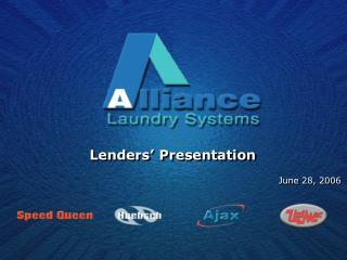 Lenders' Presentation
