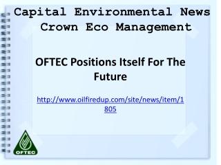 Crown Eco Management, Capital Environmental News