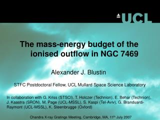 The mass-energy budget of the ionised outflow in NGC 7469