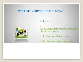 Tips For Bounty Paper Towel