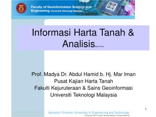 Slide 1 - UTM - ePrints