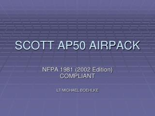 SCOTT AP50 AIRPACK