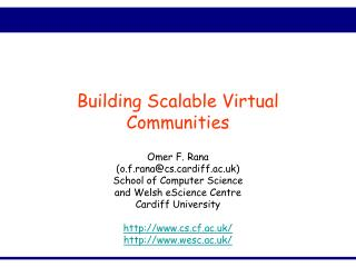 Building Scalable Virtual Communities