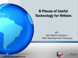 8 Pieces of Useful Technology for Writers