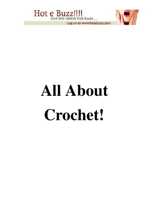 all about crochet
