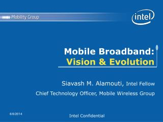 Mobile Broadband:  Vision & Evolution