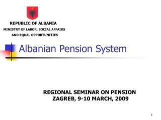 Albanian Pension System