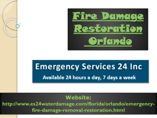 Fire Damage Restoration Orlando