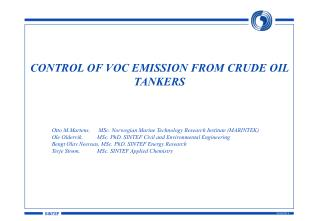 CONTROL OF VOC EMISSION FROM CRUDE OIL TANKERS