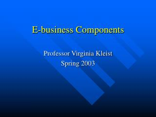 E-business Components