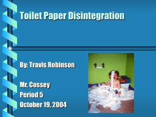 Toilet Paper Disintegration