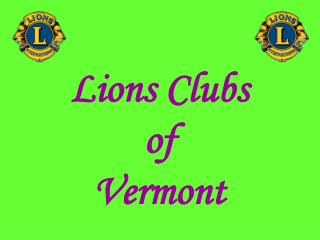 Lions Clubs of Vermont