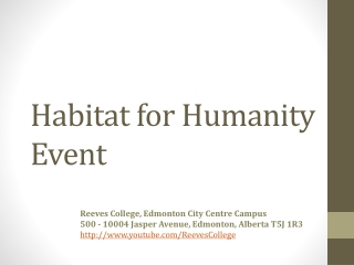 Habitat for Humanity Event in Edmonton Alberta Canada