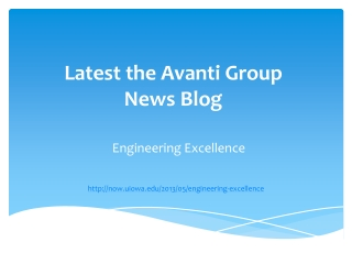 Latest the Avanti Group News Blog