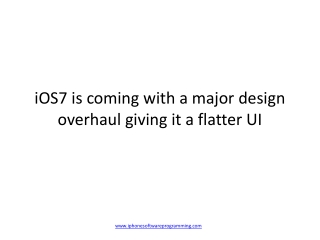 iOS 7 Likely to Bring Big Changes to iPhone
