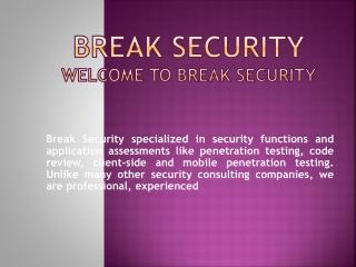 breaksecurity