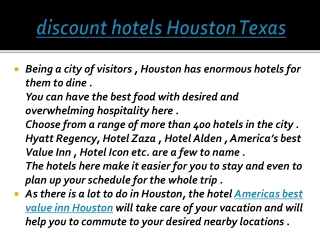 discount hotels houston texas