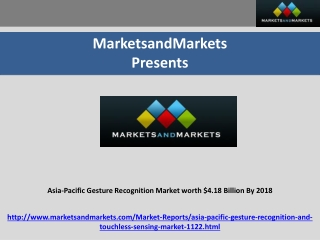 Asia-Pacific Gesture Recognition Market