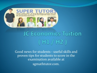 Economics Group Tuition