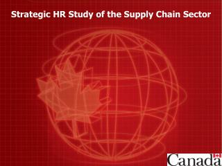 Strategic HR Study of the Supply Chain Sector