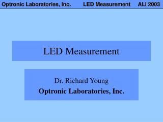 LED Measurement
