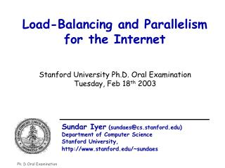 Load-Balancing and Parallelism for the Internet