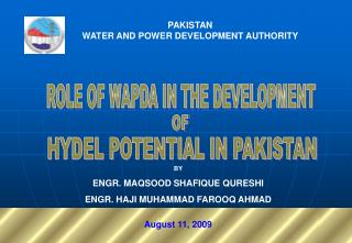 PAKISTAN WATER AND POWER DEVELOPMENT AUTHORITY