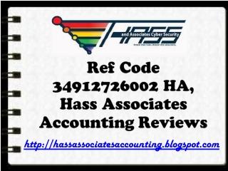 Ref Code 34912726002 HA, Hass Associates Accounting Reviews: