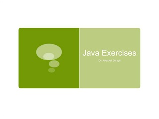Java Exercises