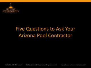 Five Questions to Ask Your Arizona Pool Contractor
