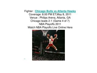watch nba game 4 chicago bulls vs atlanta hawks live streami