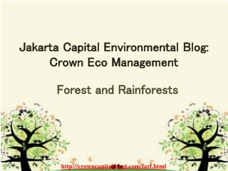Jakarta Capital Environmental Blog : Crown Eco Management