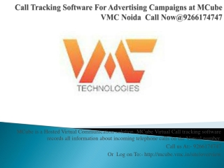 Call Tracking Software For Advertising Campaigns at MCube